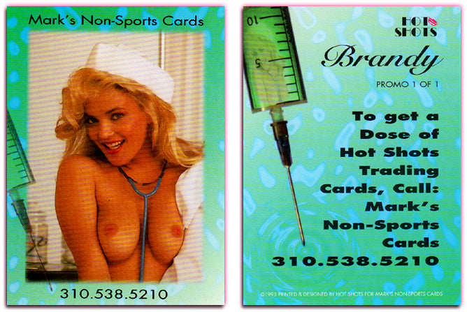 Hot Shots - Brandy Ledford - Nurse / Needle Card - Mark's NonSports Cards - Rare Promo Card