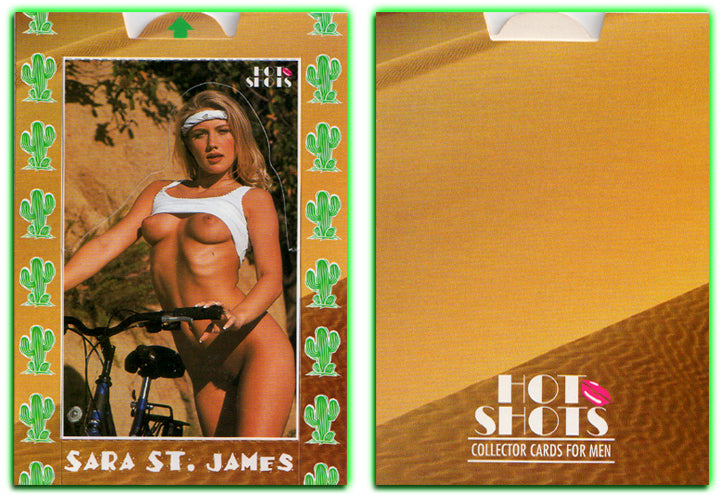 Hot Shots - POP-UP Card - Oversized 3.5 x 5 - UNPOPPED - SARA ST. JAMES