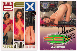 Hot Shots - Galaxy of Sex SuperStars - Rebecca Lord Authentic Autographed Card #2807/3000