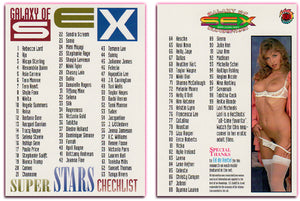 Hot Shots - Galaxy of Sex SuperStars - Checklist Card
