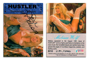 HUSTLER - Anniversary Collection - Melissa Wolf - Authentic Autograph Card B10 - #2181/4000
