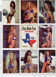 Image 2000 - Texas Bikini Team - Gold Foil Seal, Special ELITE Puzzle Back Card Set