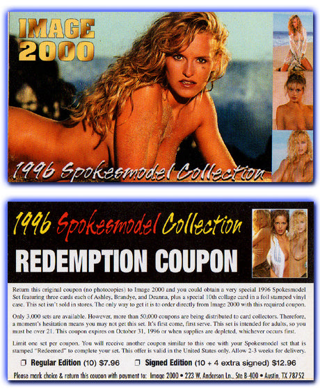 Image 2000 - Spokesmodel Collection - Redemption Coupon Card
