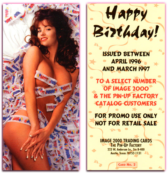 Image 2000 - HAPPY BIRTHDAY - Large Promo Card (No. 2) - The Pinup Factory