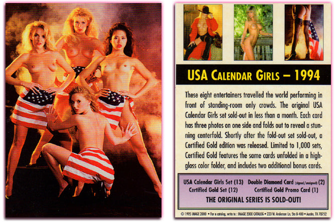 Image 2000 - USA Calendar Girls -  Insert Promo Card