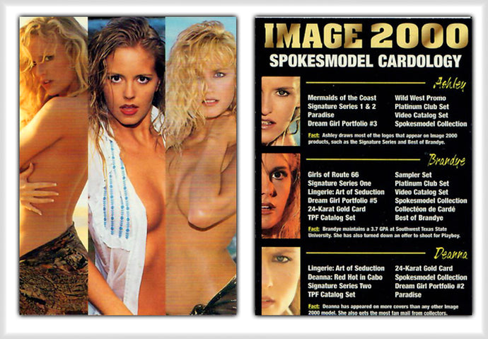 Image 2000 - Spokesmodel Cardology - Ashley, Brandye, Deanna - Promo Card