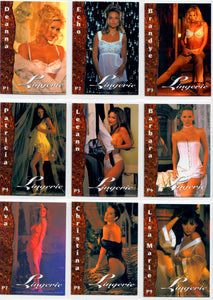 Image 2000 - Lingerie Collection - 9 Card Promo Card Set