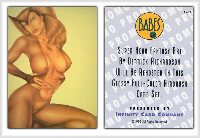 Infinity - BABES Inc. - The Art of Derrick Richardson - Promo Card 1 of 2