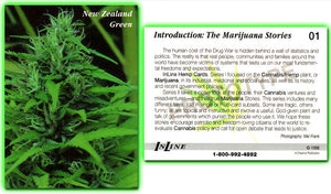 InLine Hemp - Marijuana Collector Cards - 6 Card Promo Prototype Set - Series 1