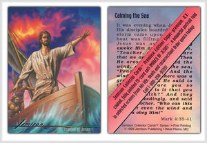 Jamison Collector Cards - The Bible Series - Promo Card - Calming The Sea