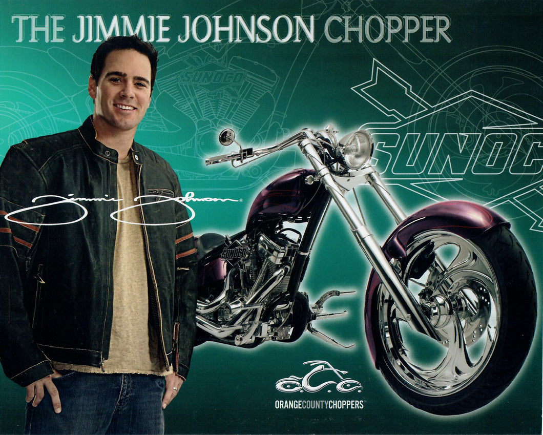 Sell Sheet - Jimmie Johnson Chopper - Nascar/Sunoco - Jumbo Promo Card / Sell Sheet