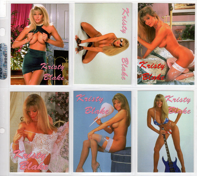 Kristy Blake - 6 Card Fan Club Promo Card Set