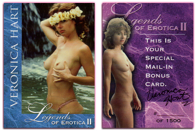 Silver Star - Legends of Erotica II - Veronica Hart - Special Mail in Bonus Card - Autographed