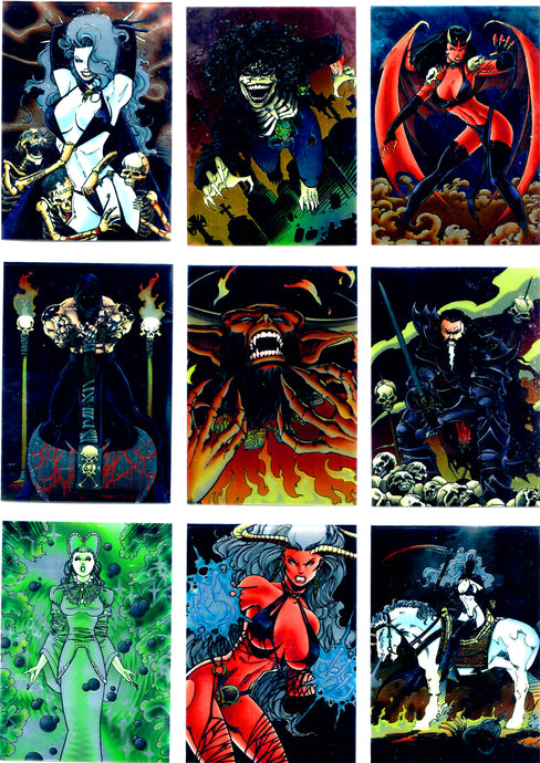 Lady Death - All Chromium Series II -  Complete 99 Card Base Set - In Pages