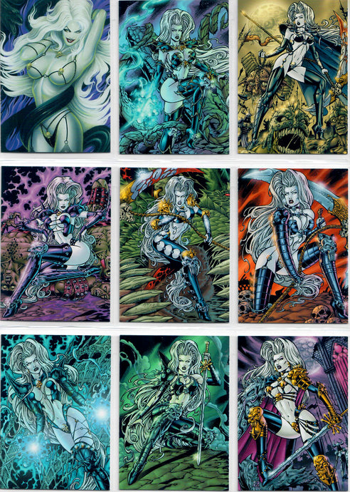 Lady Death - Love Bites -  Complete 72 Card Base Set - In Pages