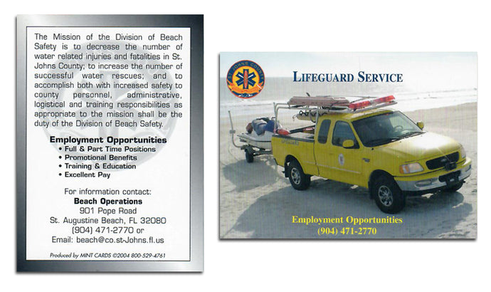 Lifeguard Service - Beach Operations - Promo Card