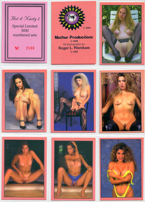 Mother Productions - Hot & Nasty - Complete 32 Card Set & COA Card