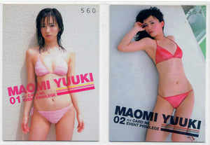 Maomi Yuuki - Asian Adult Model - Event Privilege 2 Promo Set - Serial Numbered