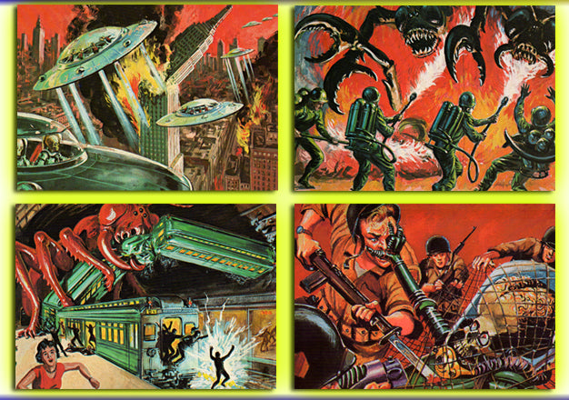 Mars Attacks - Renata Galasso - 1984 - 4 Card Jumbo Promo  Card Set