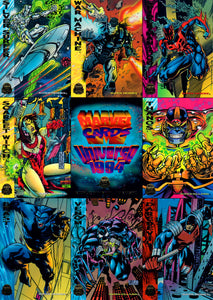 Marvel Cards Universe 1994 - Gorgeous Gold Foiled - 9 Card Uncut Sheet