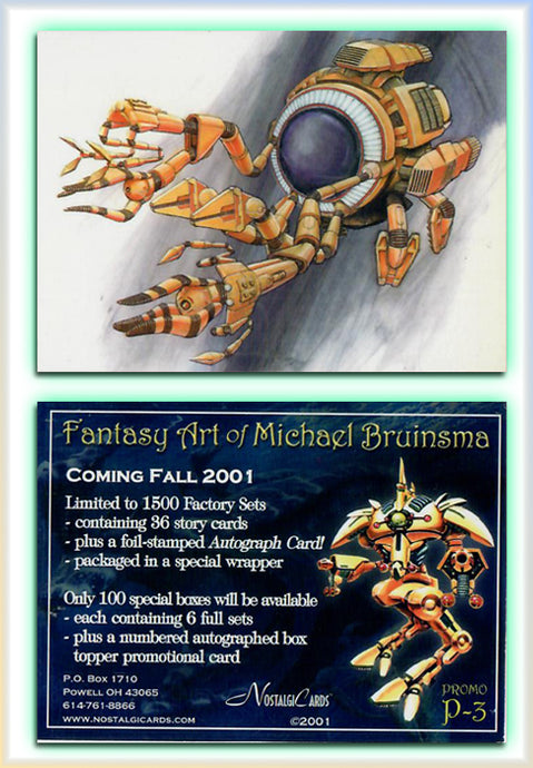 Michael Bruinsma - The Fantasy Art of - Nostalgia Cards - Promo Card P3