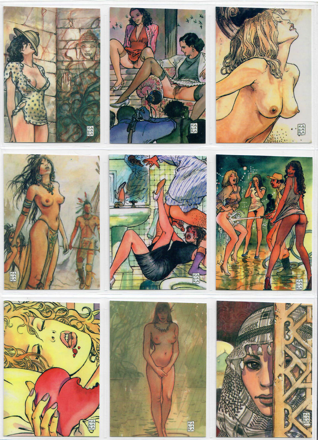 Milo Manara - The Erotic Art of - Complete 45 Series 1 Card Set - Sound & Vision