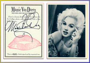 Mimi Van Doren - 36 Card Boxed Set w/ Autograph & Kiss Print - Kitchen Sink