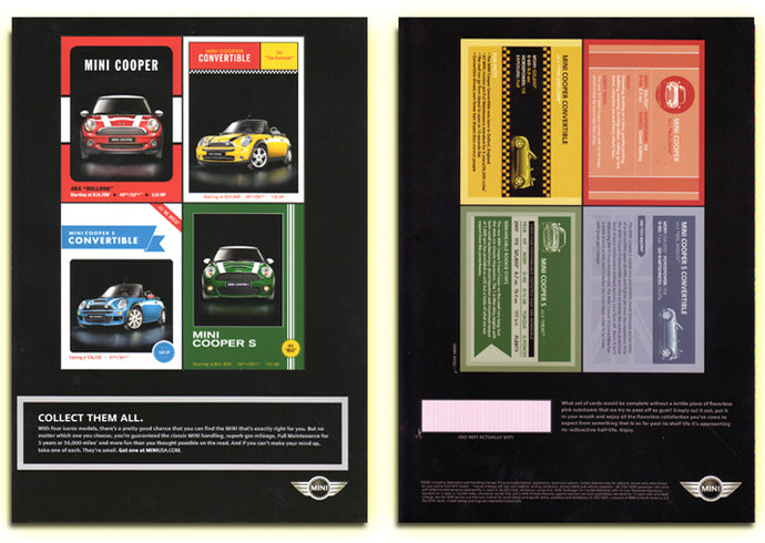 Mini Cooper - 4 Card Perforated / Uncut Card Set