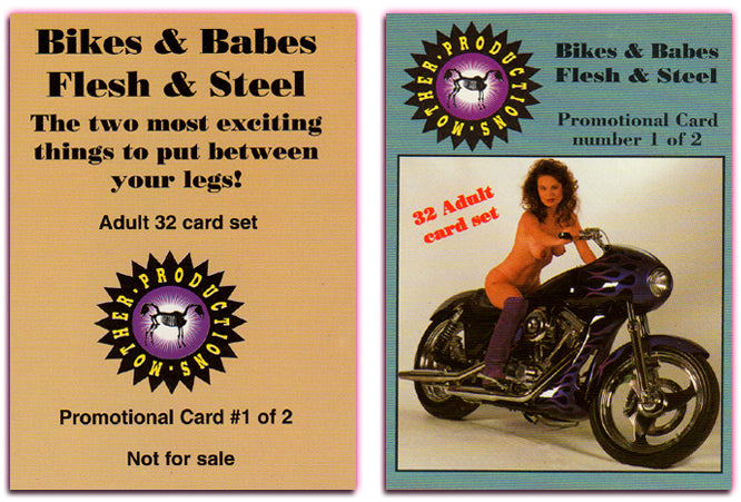 Mother Productions - Bikes & Babes - Flesh & Steel - Promo Card #1 of 2