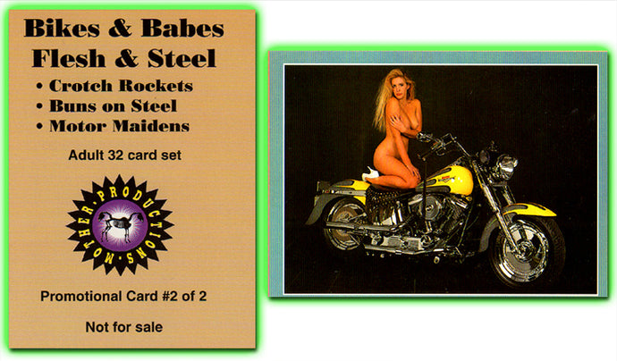 Mother Productions - Bikes & Babes - Flesh & Steel - Promo Card #2 of 2