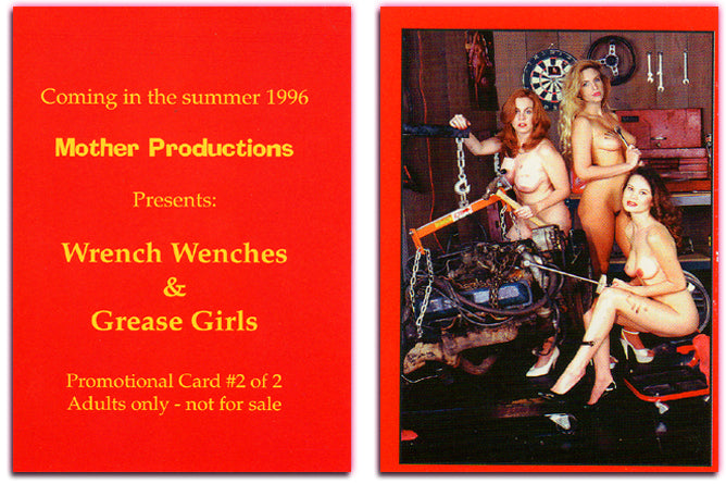 Mother Productions - Wrench Wenches & Grease Girls - Promo Card #2 of 2