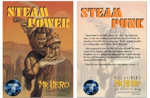 Steam Punk - Mr. Hero - Steam Power - Jumbo 5x7 Promo Card - Tekno Comix