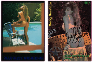 BECKY SUNSHINE - Naughty Neighbor - Blue Foil 9 Card Set - Autographed/Numbered - Silver Star