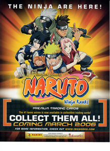 Sell Sheet - NARUTO - Ninja Ranks -  Premium Trading Cards  - Inkworks - Counter Slick