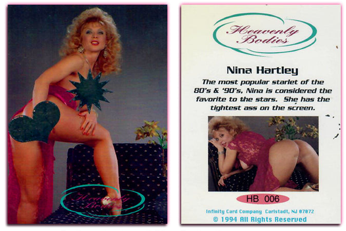 Nina Hartley - Heavenly Bodies - Heat Sensitive - Card HB-006 - Infinity Cards