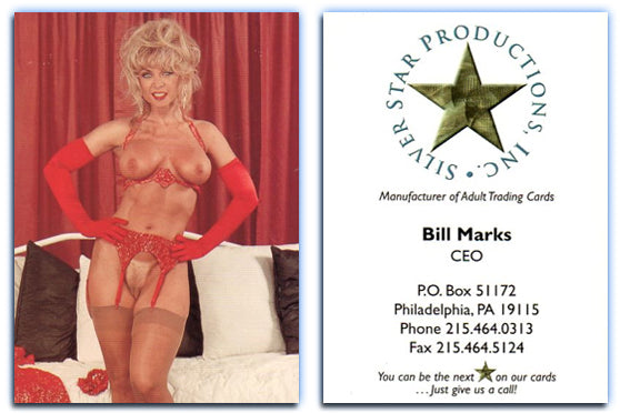 Silver Star - Bill Marks CEO - Nina Hartley covergirl - Business Card - Rare