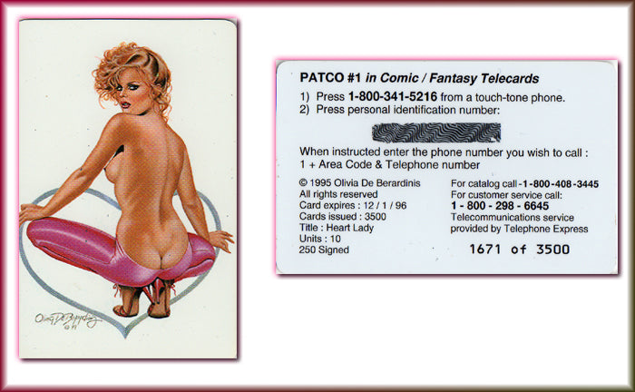 OLIVIA - PATCO Telecards - Phone Card - LUI I - #1676/3500 - Unused