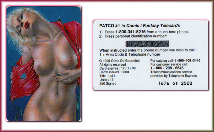 OLIVIA - PATCO Telecards - Phone Card - HEART LADY - #1671/3500 - Unused