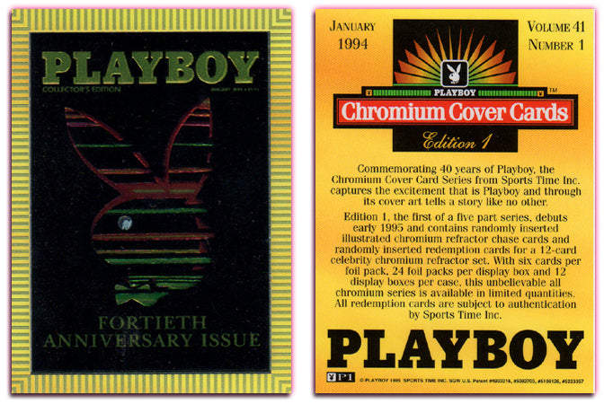 PLAYBOY - Chromium - Promo Card P1 - 1995 - Sports Time