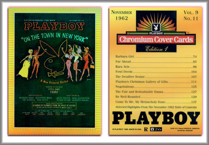 PLAYBOY - Chromium - REFRACTOR Chase Card R26