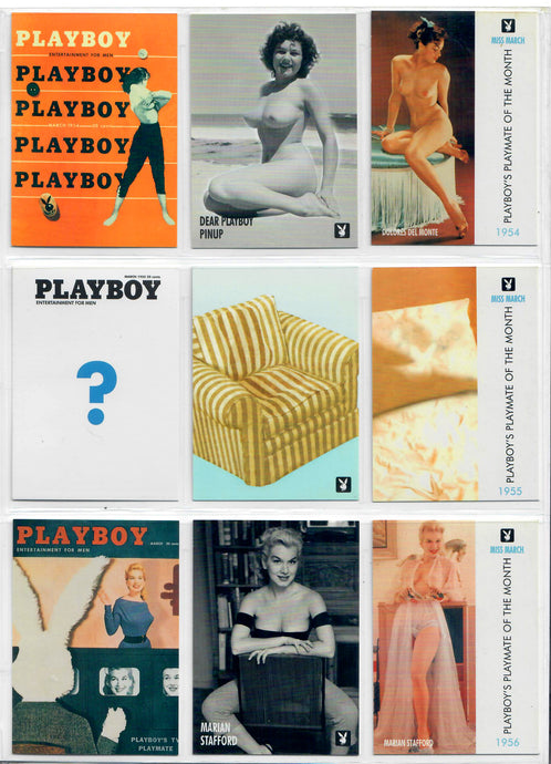 PLAYBOY - CENTERFOLDS - MARCH Collection - Complete Base Set + Previews Set + Checklists
