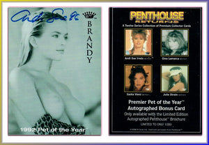 Penthouse - Returns - Series 1 - Andi Sue Irwin ~ Authentic Autographed Card - Signed