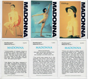 Penthouse - Returns - Series 1 - Madonna - Celebrity Story - 3 Card Chase Set