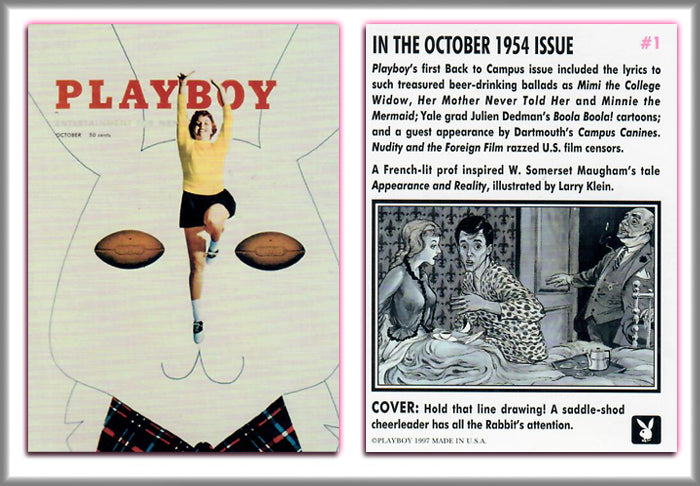 PLAYBOY - CENTERFOLDS - OCTOBER Collection - Complete Base Set + Previews Set + Checklists