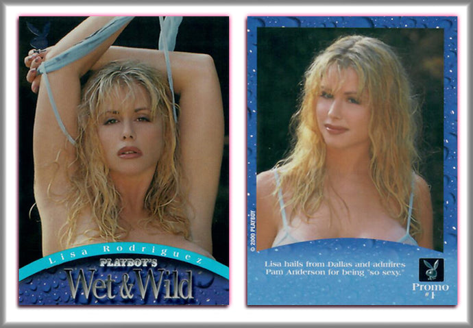 PLAYBOY - WET & WILD - Promo Card #1