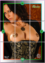 Load image into Gallery viewer, Pinup Trading Cards - 9 Card Puzzle Set - LONDON FOX