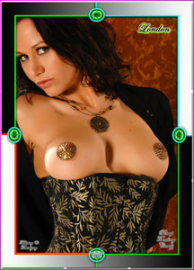 Pinup Trading Cards - 9 Card Puzzle Set - LONDON FOX