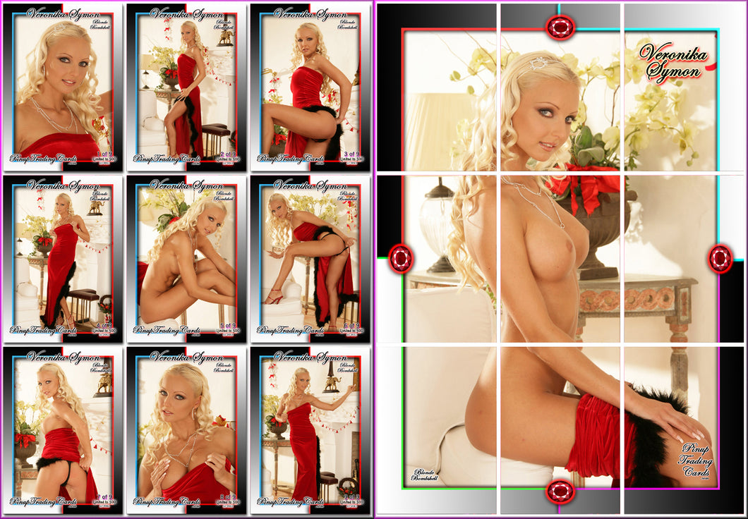 Pinup Trading Cards - 9 Card Puzzle Set - VERONIKA SYMON