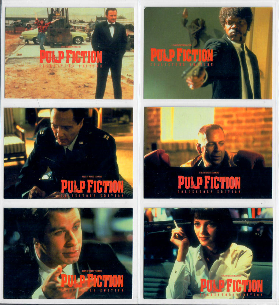 PULP FICTION - Suncoast 2002 - 6 Card Movie Promo Set