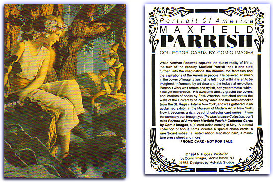 Maxfield Parrish - Portrait of America - Promo Card - 1994